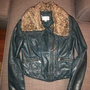Juniors Faux Leather Jacket
